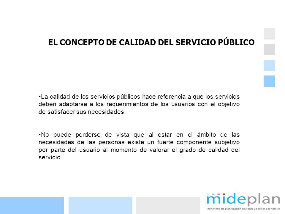8 La calidad de los servicios públicos hace referencia a que los servicios deben adaptarse a los requerimientos de los usuarios con el objetivo de sat