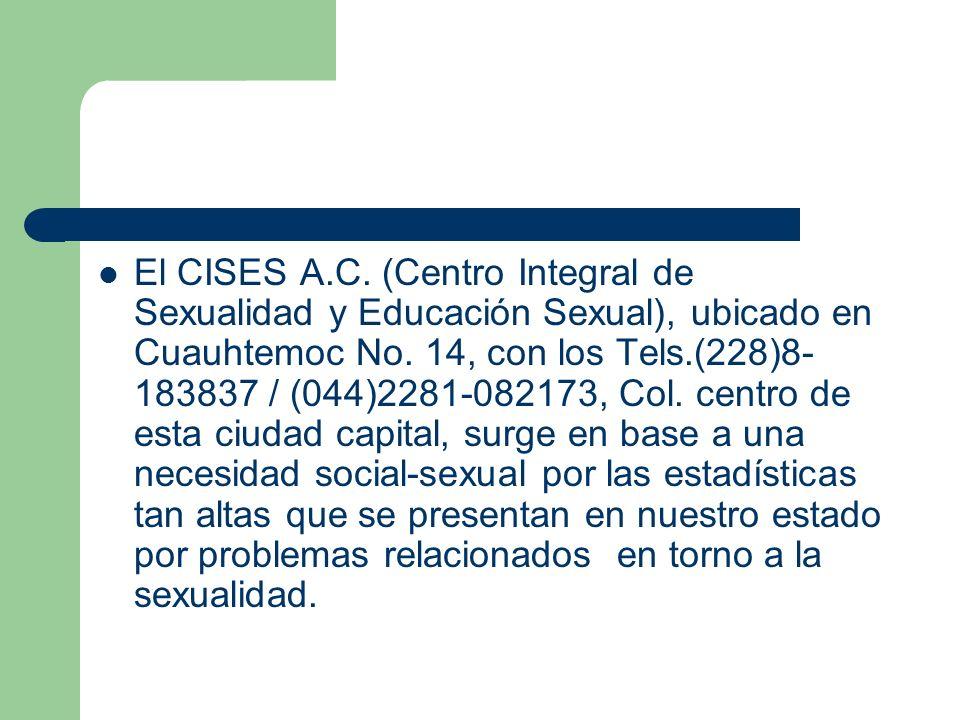 El CISES A.C. (Centro Integral de Sexualidad y Educación Sexual), ubicado en Cuauhtemoc No.