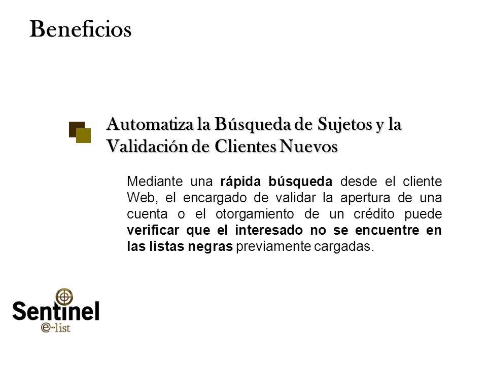 Tuesday, January 28, 2014www.smartsoftint.com20 Beneficios Automatiza la Búsqueda de Sujetos y la Validación de Clientes Nuevos Mediante una rápida bú