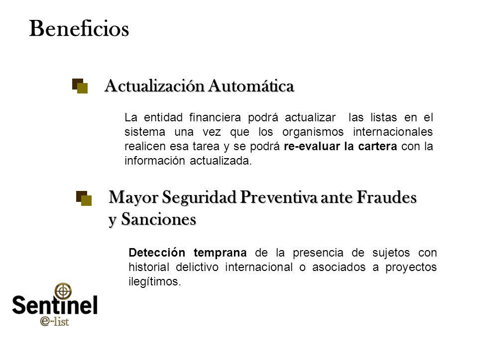 Tuesday, January 28, 2014www.smartsoftint.com22 Beneficios Actualización Automática La entidad financiera podrá actualizar las listas en el sistema un
