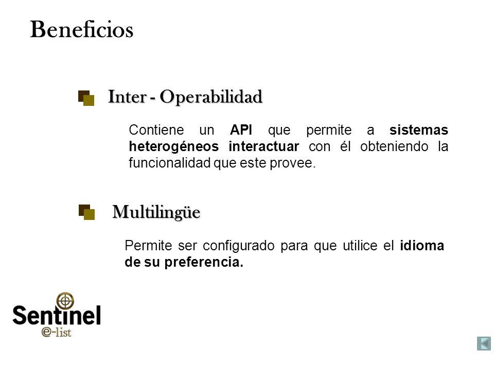 Tuesday, January 28, 2014www.smartsoftint.com23 Beneficios Inter - Operabilidad Contiene un API que permite a sistemas heterogéneos interactuar con él