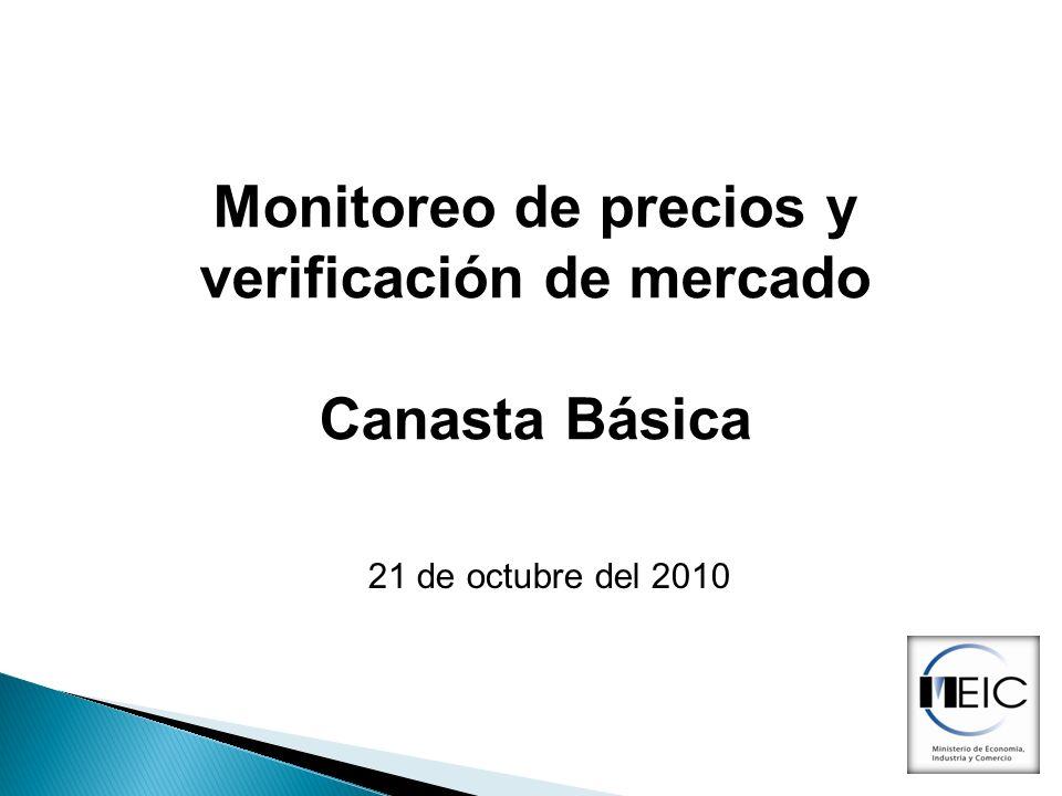 Monitoreo de precios y verificación de mercado Canasta Básica 21 de octubre del 2010