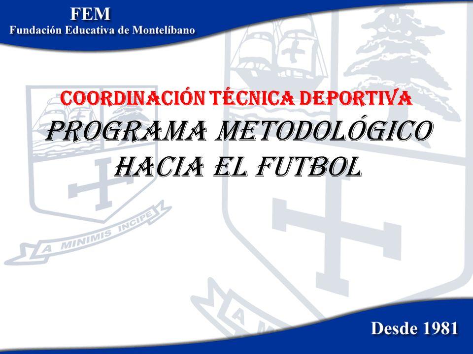 PROGRAMA METODOLÓGICO HACIA EL futbol COORDINACIÓN TÉCNICA DEPORTIVA