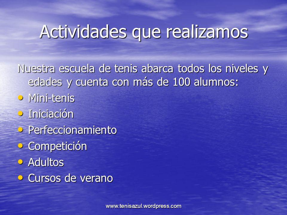 www.tenisazul.wordpress.com TARIFAS PAGINA WEB LOGO EN LA PESTAÑA DE PATROCINADORES JUNTO A BREVE DESCRIPCION60 /AÑO LOGO EN LA PESTAÑA DE PATROCINADORES JUNTO A BREVE DESCRIPCION60 /AÑO LOGO MAS ANUNCIO ALEATORIA EN NOTICIAS DE PORTADA100 /AÑO LOGO MAS ANUNCIO ALEATORIA EN NOTICIAS DE PORTADA100 /AÑO LOGO EN CARTELERIA DE 3 TORNEOS DE TENIS AL AÑO250 /AÑO LOGO EN CARTELERIA DE 3 TORNEOS DE TENIS AL AÑO250 /AÑO LOGO EN CARTELERIA DE LOS 10 TORNEOS DE TENIS AL AÑO750 /AÑO LOGO EN CARTELERIA DE LOS 10 TORNEOS DE TENIS AL AÑO750 /AÑO TODAS LAS TARIFAS TIENEN IVA INCLUIDO