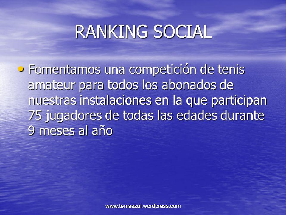 www.tenisazul.wordpress.com ESPERAMOS VUESTRA COLABORACION AZUL GRAND SLAM SALAMANCA WWW.TENISAZUL.COM
