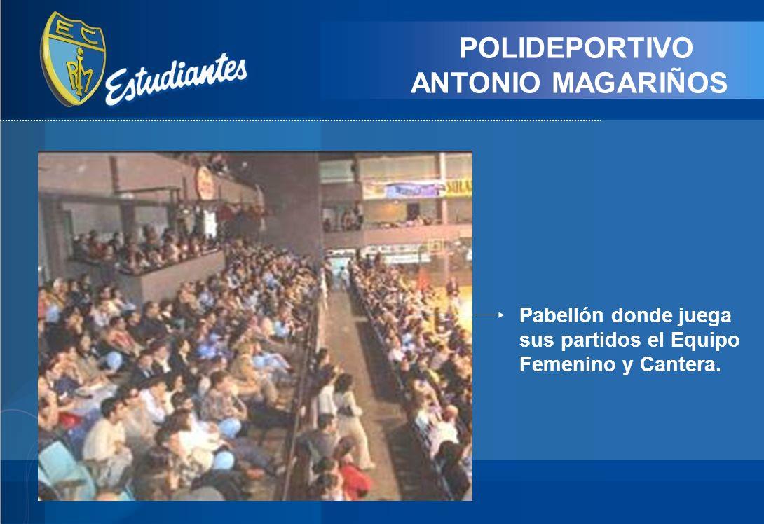 POLIDEPORTIVO ANTONIO MAGARIÑOS Pabellón donde juega sus partidos el Equipo Femenino y Cantera.