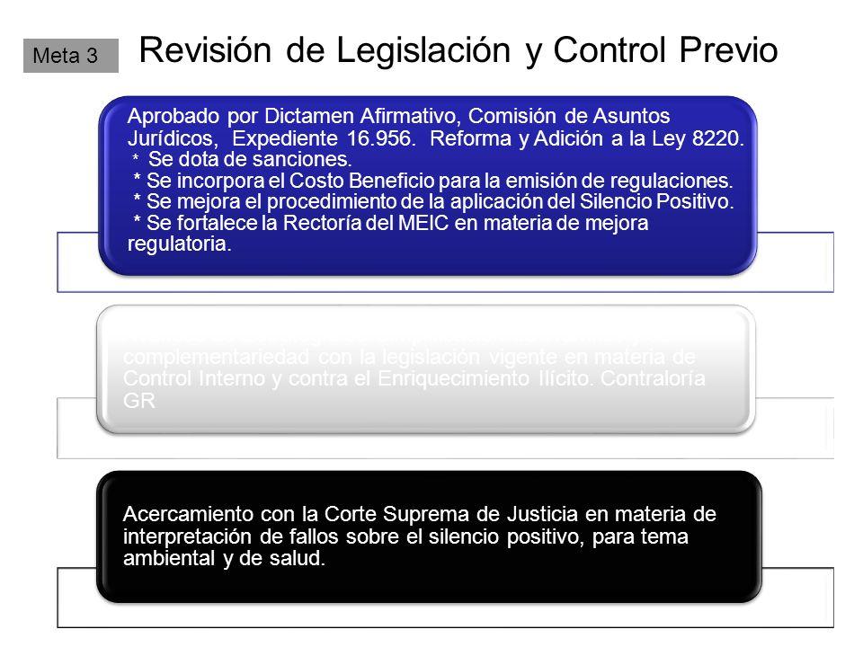 Revisión de Legislación y Control Previo Meta 3 Aprobado por Dictamen Afirmativo, Comisión de Asuntos Jurídicos, Expediente 16.956.