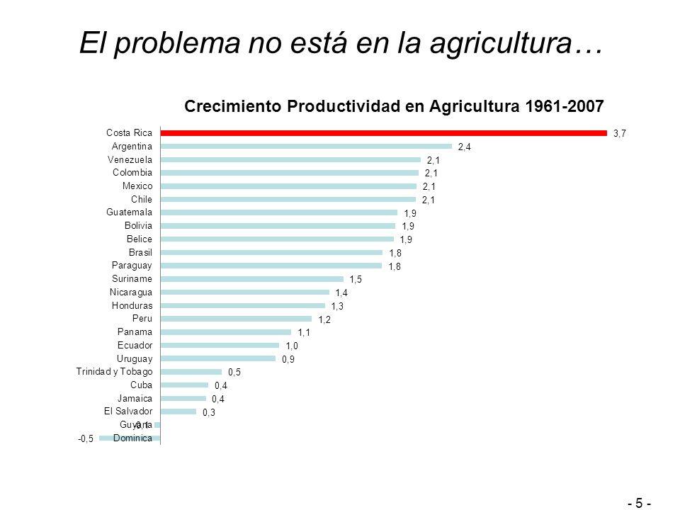 El problema no está en la agricultura… - 5 -