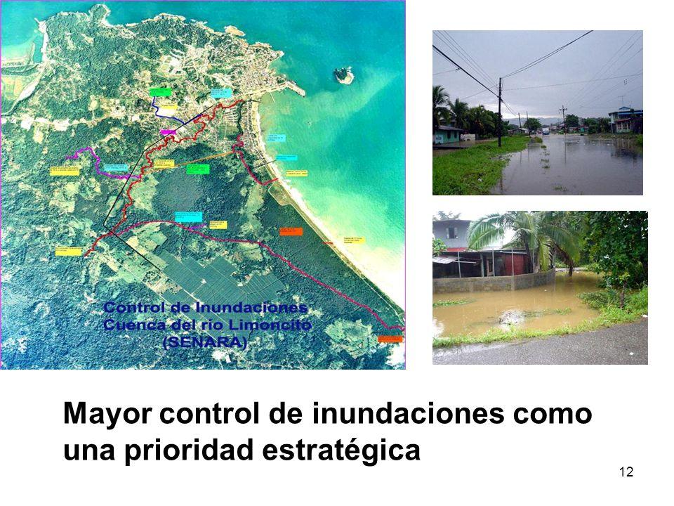 12 Mayor control de inundaciones como una prioridad estratégica