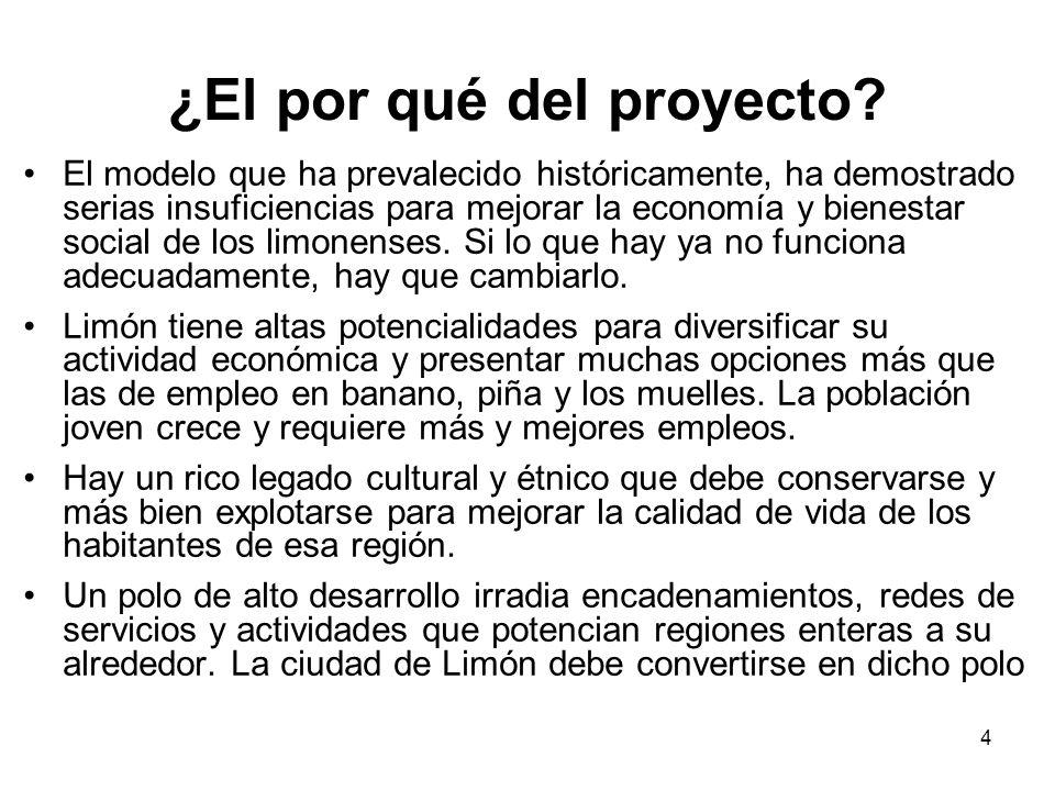4 ¿El por qué del proyecto? El modelo que ha prevalecido históricamente, ha demostrado serias insuficiencias para mejorar la economía y bienestar soci