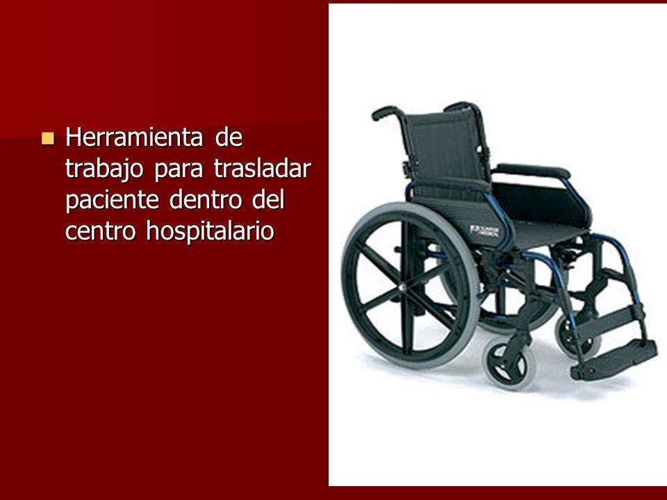 Herramienta de trabajo para trasladar paciente dentro del centro hospitalario Herramienta de trabajo para trasladar paciente dentro del centro hospita