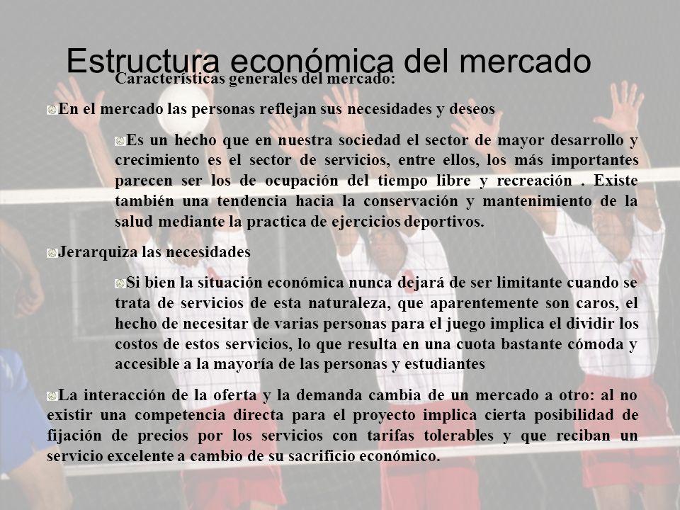 Estructura económica del mercado Características generales del mercado: En el mercado las personas reflejan sus necesidades y deseos Es un hecho que e