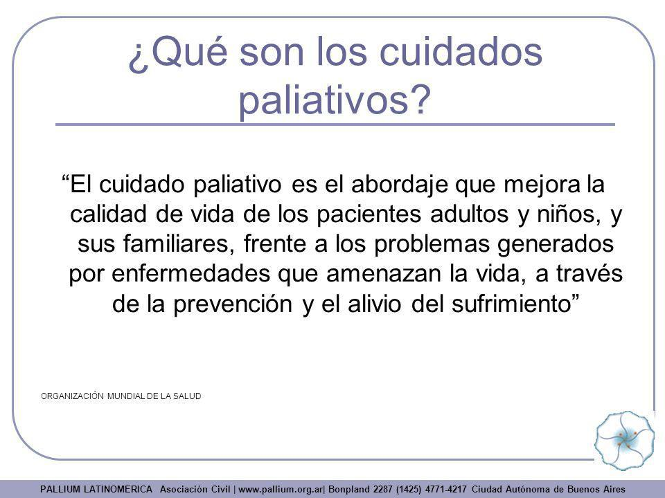 ¿Qué son los cuidados paliativos? El cuidado paliativo es el abordaje que mejora la calidad de vida de los pacientes adultos y niños, y sus familiares