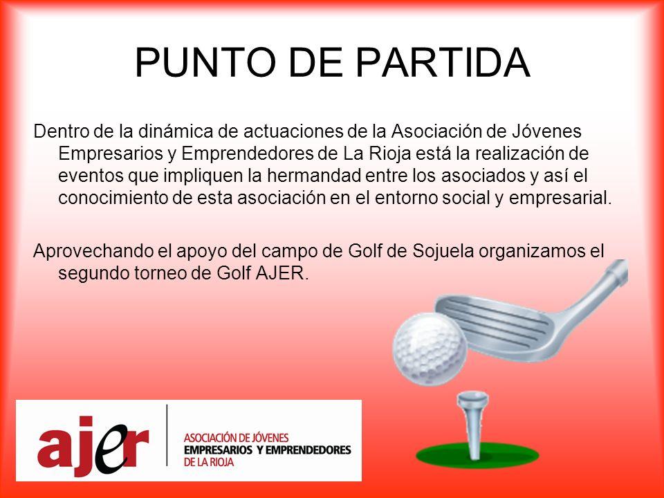 PUNTO DE PARTIDA Dentro de la dinámica de actuaciones de la Asociación de Jóvenes Empresarios y Emprendedores de La Rioja está la realización de eventos que impliquen la hermandad entre los asociados y así el conocimiento de esta asociación en el entorno social y empresarial.