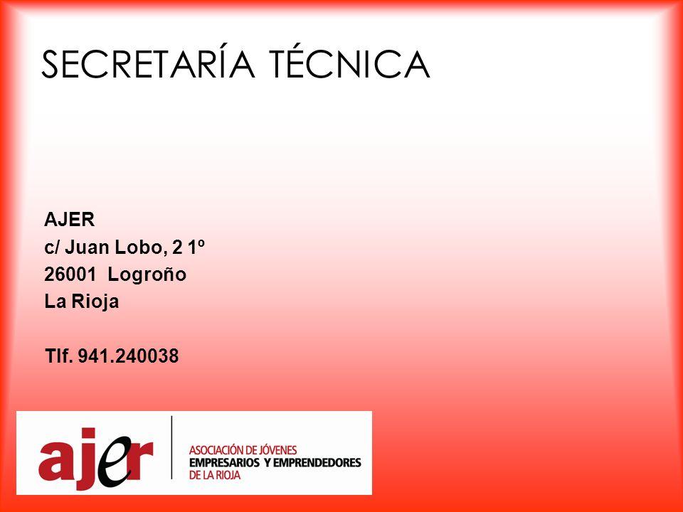 SECRETARÍA TÉCNICA AJER c/ Juan Lobo, 2 1º 26001 Logroño La Rioja Tlf. 941.240038