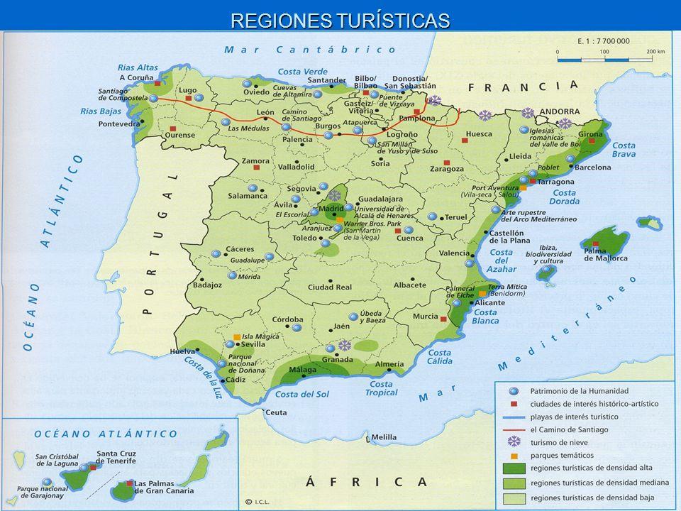 EL LITORAL MEDITERRÁNEO.Hegemonía del turismo de sol y playa.