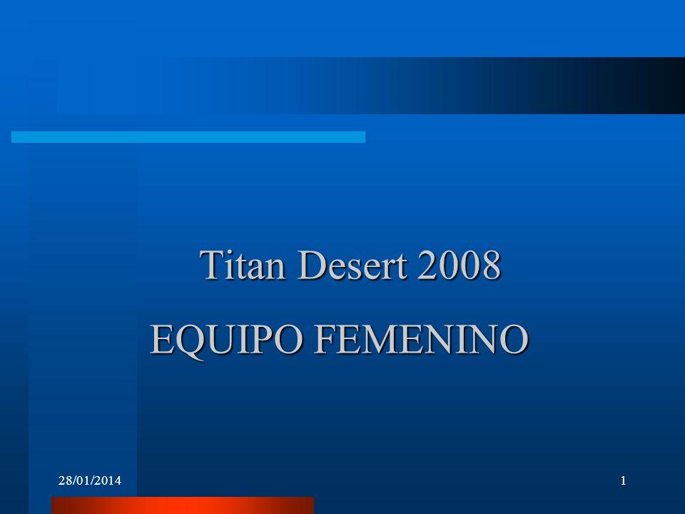 EQUIPO FEMENINO 28/01/20141 Titan Desert 2008
