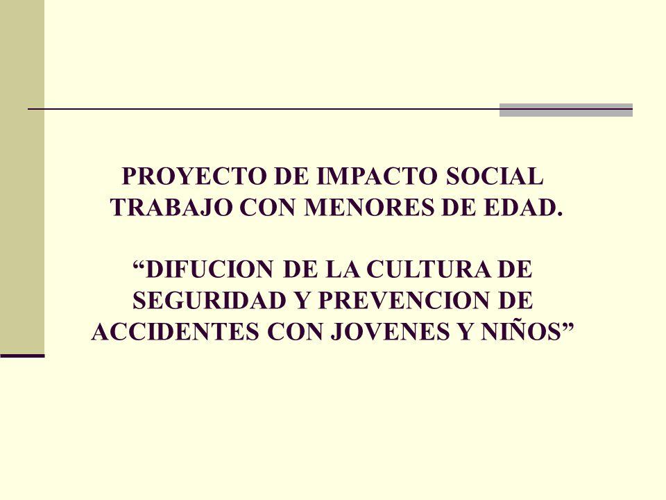 PROYECTO DE IMPACTO SOCIAL TRABAJO CON MENORES DE EDAD.