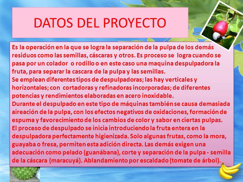 PROBLEMA CARENCIA DE MATERIA PRIMA LOCAL PARA SUPLIR A INDUSTRIAS PROCESADORA DE JUGOS