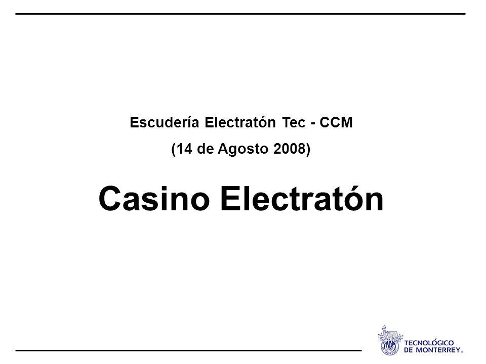 Escudería Electratón Tec - CCM (14 de Agosto 2008) Casino Electratón