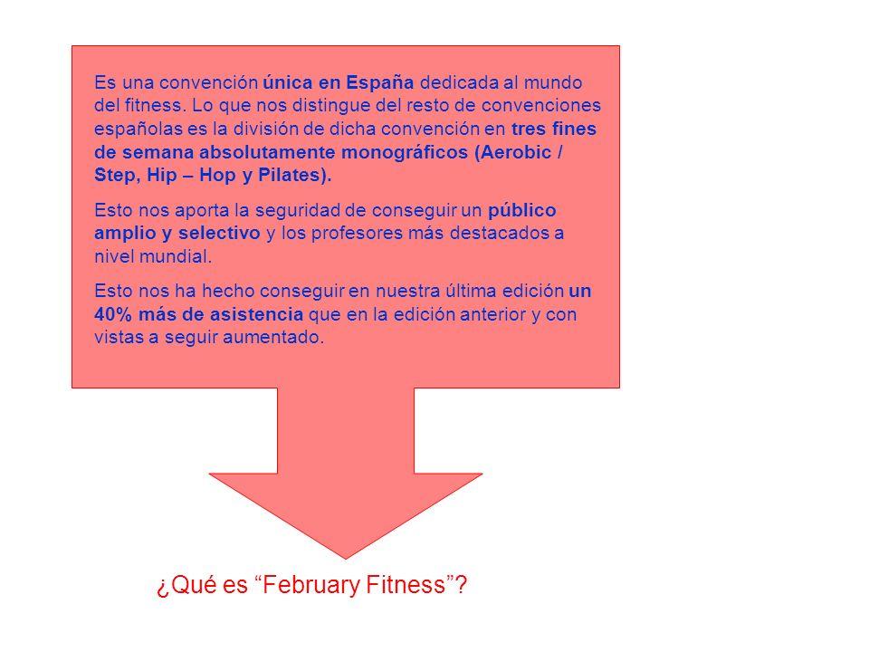¿Qué es February Fitness? Es una convención única en España dedicada al mundo del fitness. Lo que nos distingue del resto de convenciones españolas es
