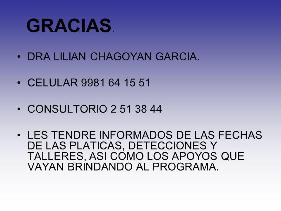 GRACIAS.DRA LILIAN CHAGOYAN GARCIA.