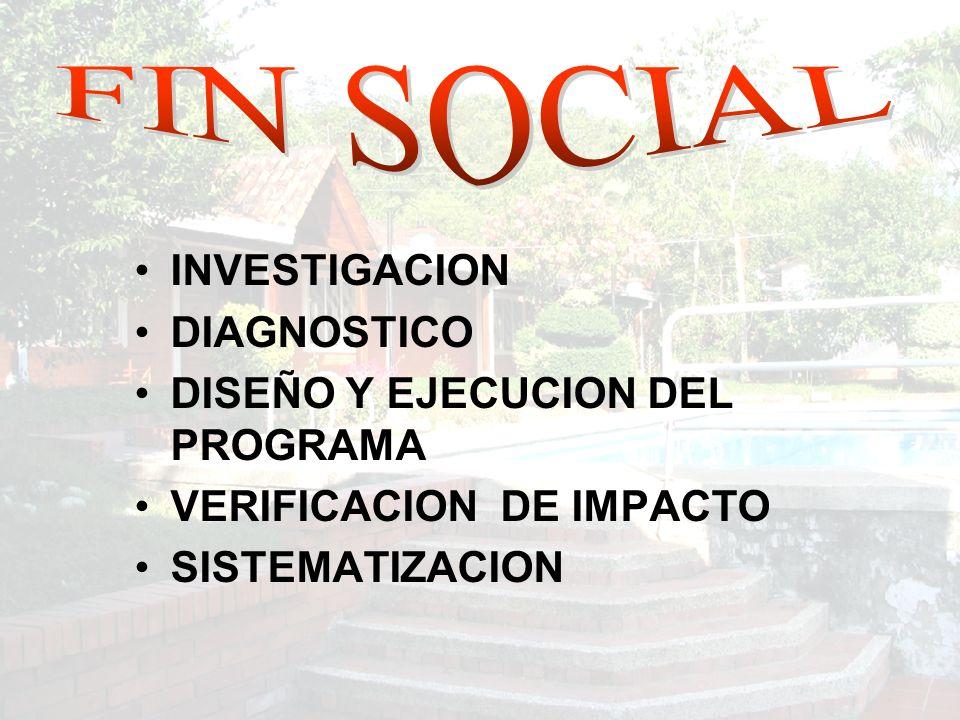 INVESTIGACION DIAGNOSTICO DISEÑO Y EJECUCION DEL PROGRAMA VERIFICACION DE IMPACTO SISTEMATIZACION