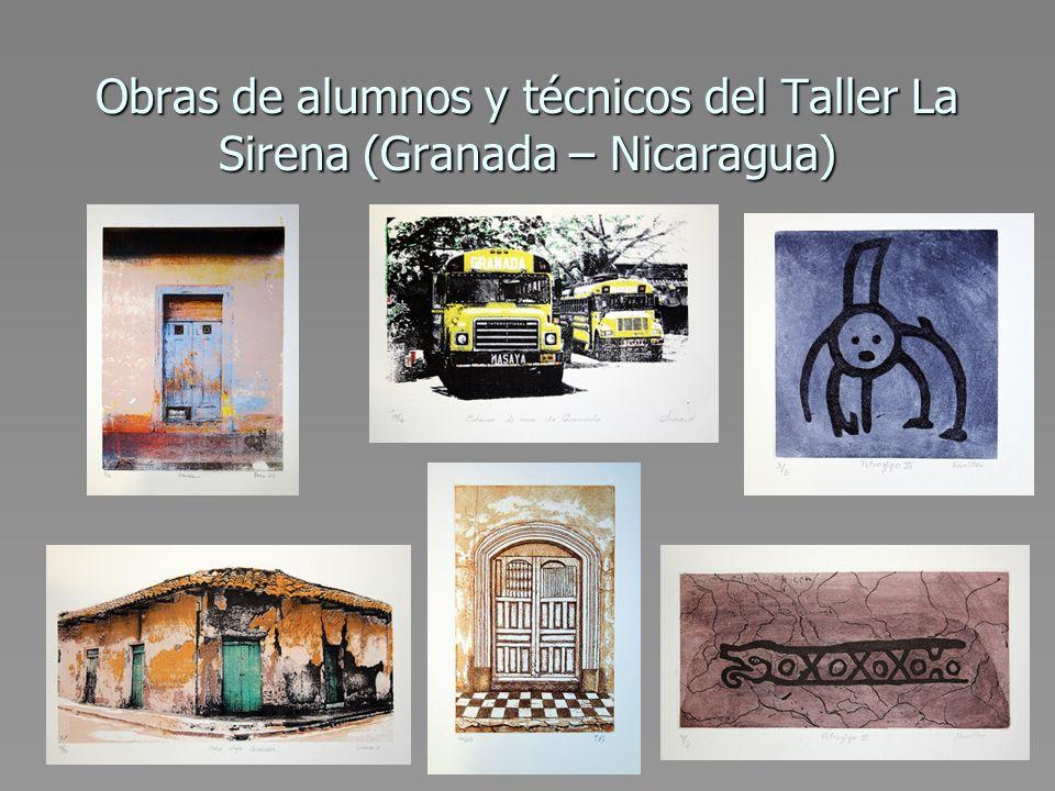 Obras de alumnos y técnicos del Taller La Sirena (Granada – Nicaragua)