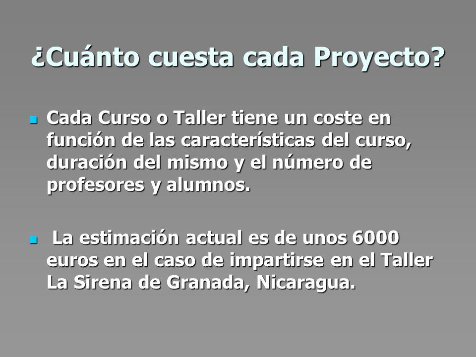 ¿Cuánto cuesta cada Proyecto.