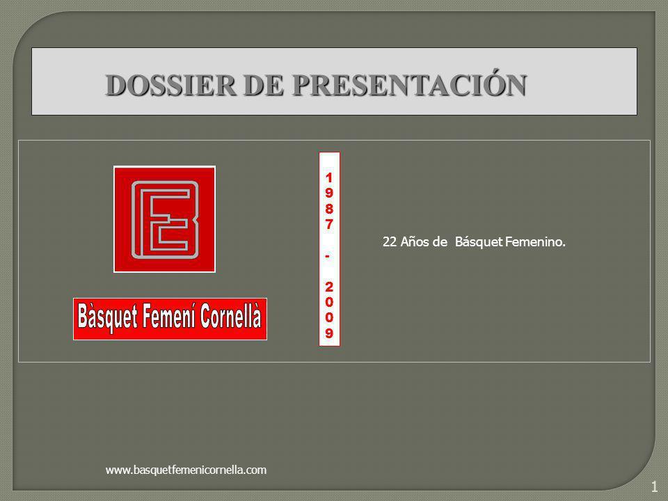 1 1987-20091987-2009 www.basquetfemenicornella.com DOSSIER DE PRESENTACIÓN 22 Años de Básquet Femenino.