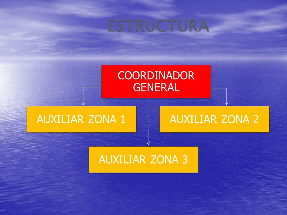 COORDINADOR GENERALESTRUCTURA AUXILIAR ZONA 1AUXILIAR ZONA 2 AUXILIAR ZONA 3