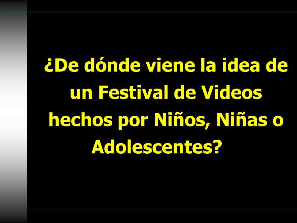 ¿De dónde viene la idea de un Festival de Videos hechos por Niños, Niñas o Adolescentes