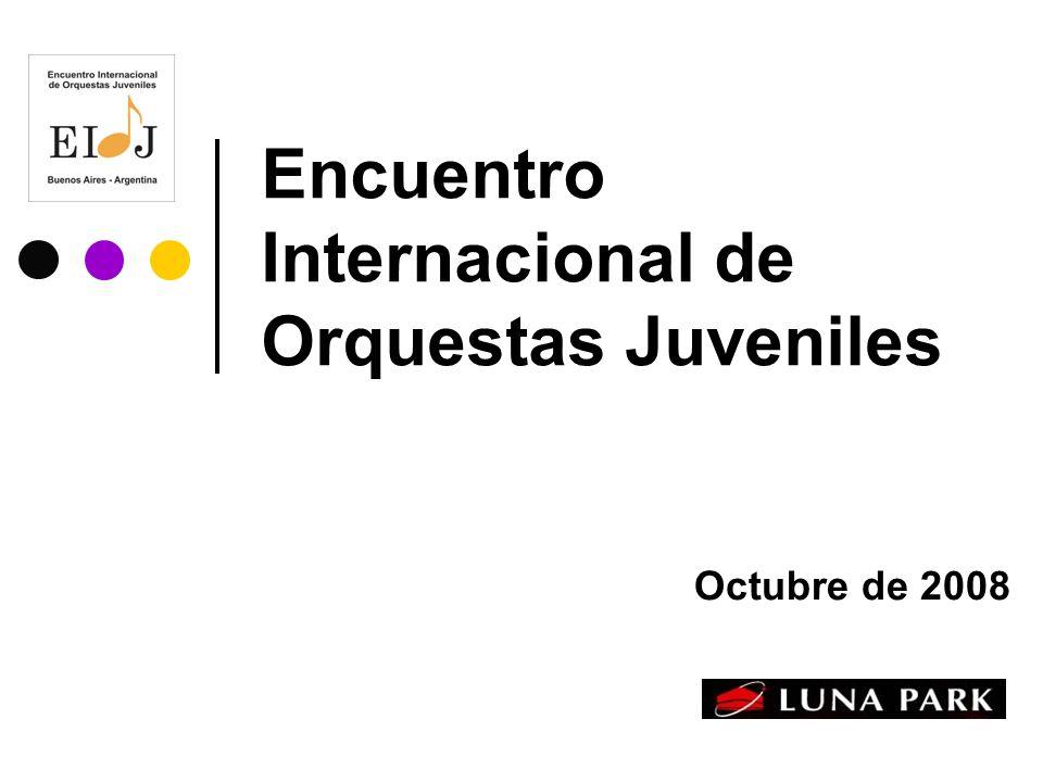 Encuentro Internacional de Orquestas Juveniles Octubre de 2008