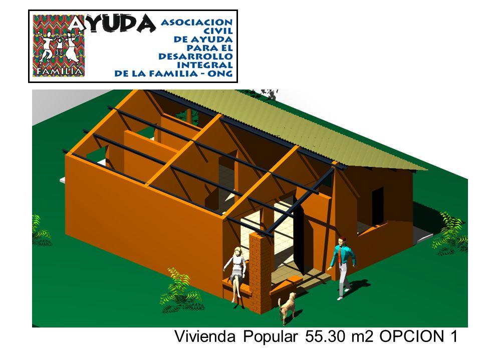 Vivienda Popular 55.30 m2 OPCION 1