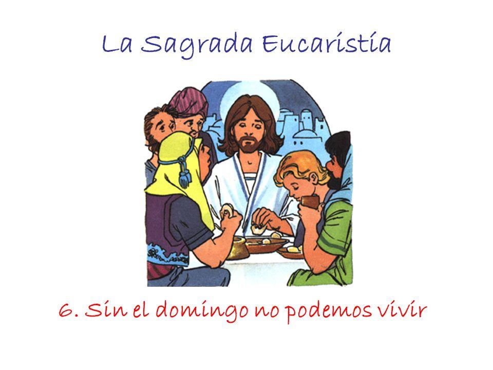 La Sagrada Eucaristía 6. Sin el domingo no podemos vivir