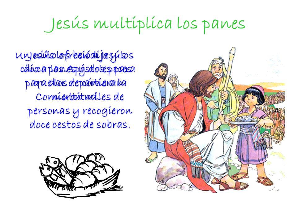 Los milagros de Jesús manifiestan su poder Después de los milagros, los discípulos pueden entender que quien tiene poder para multiplicar los panes, curar enfermedades incurables o caminar sobre las aguas, tiene también poder de convertir el pan y el vino en su Cuerpo y su Sangre.
