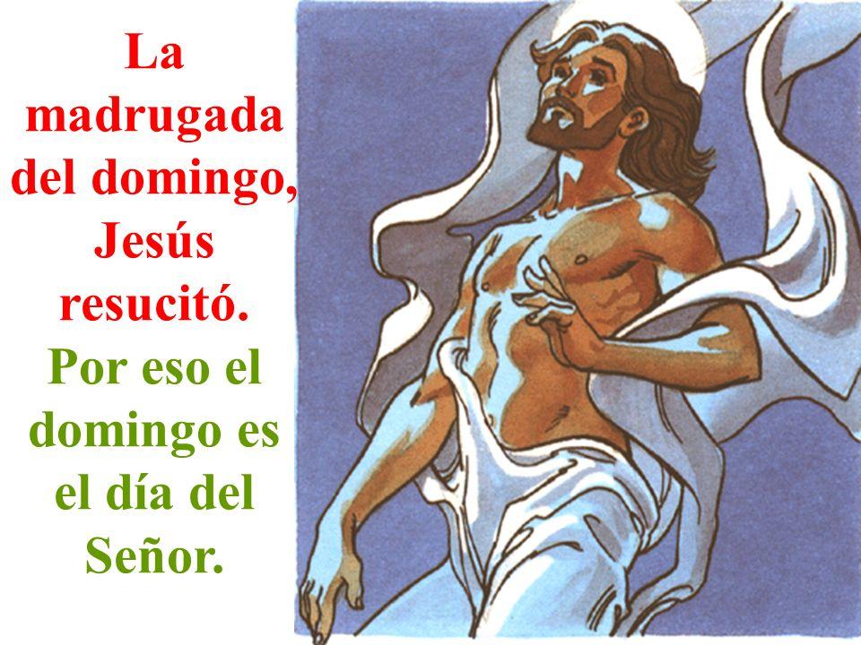 La madrugada del domingo, Jesús resucitó. Por eso el domingo es el día del Señor.