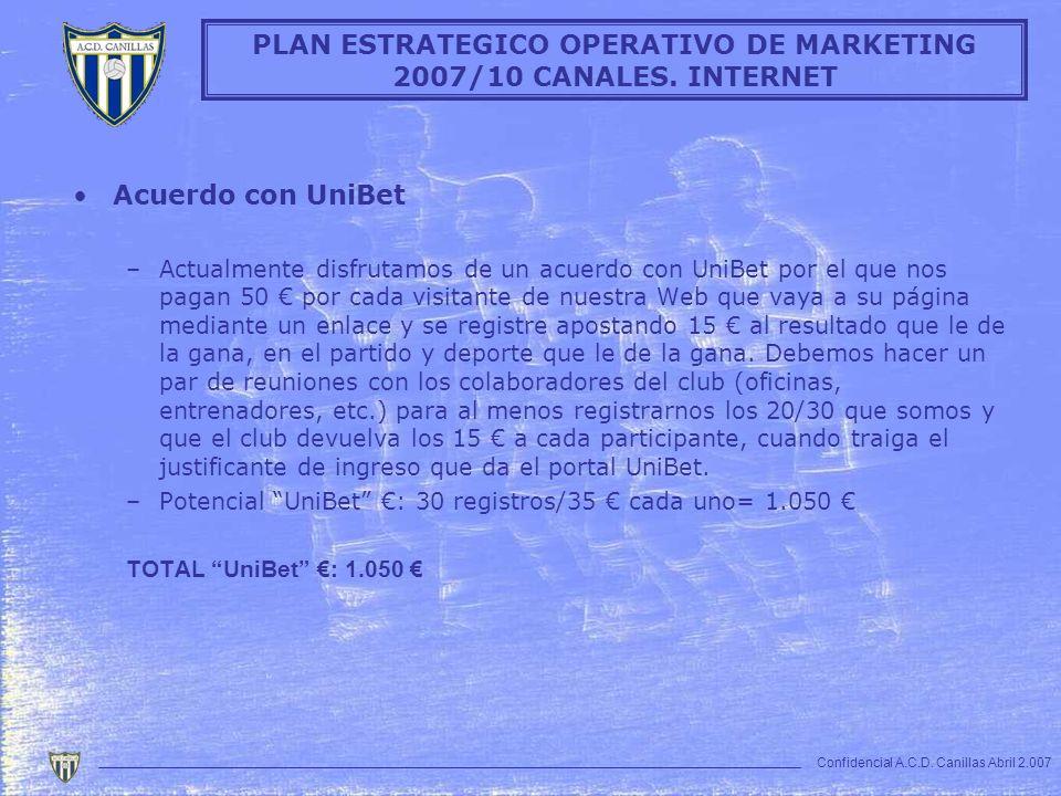 Acuerdo con UniBet –Actualmente disfrutamos de un acuerdo con UniBet por el que nos pagan 50 por cada visitante de nuestra Web que vaya a su página me