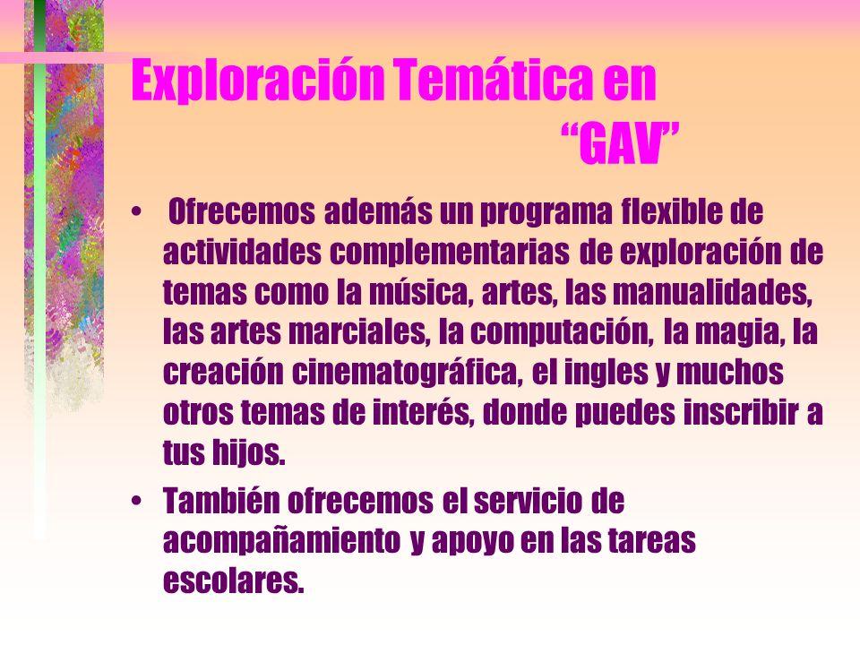 Juegos Creativos en GAV Contamos con un programa de juegos creativos para tus hijos maternales y pre-escolares, donde puedes inscribir a tus pequeños