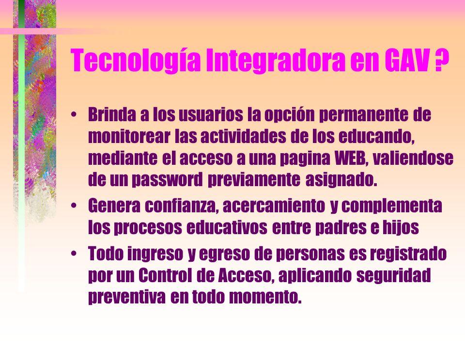 BMD Integrador GAV ? Regula el acceso e identificación de todas las personas, mediante el Sistema de Biometría Digital combinado con tarjeta de proxim