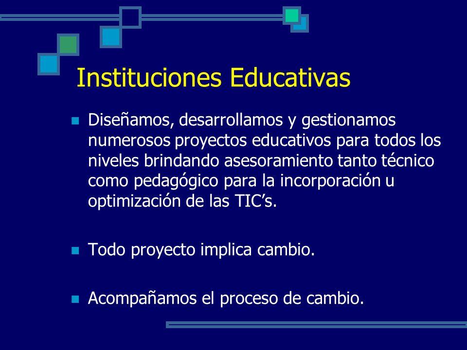 Diseñamos, desarrollamos y gestionamos numerosos proyectos educativos para todos los niveles brindando asesoramiento tanto técnico como pedagógico para la incorporación u optimización de las TICs.