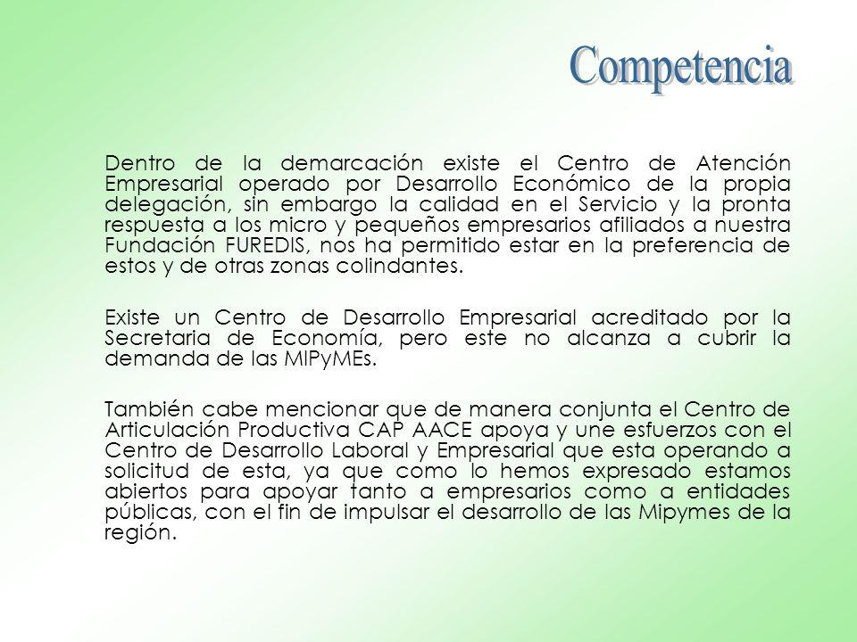 Dentro de la demarcación existe el Centro de Atención Empresarial operado por Desarrollo Económico de la propia delegación, sin embargo la calidad en