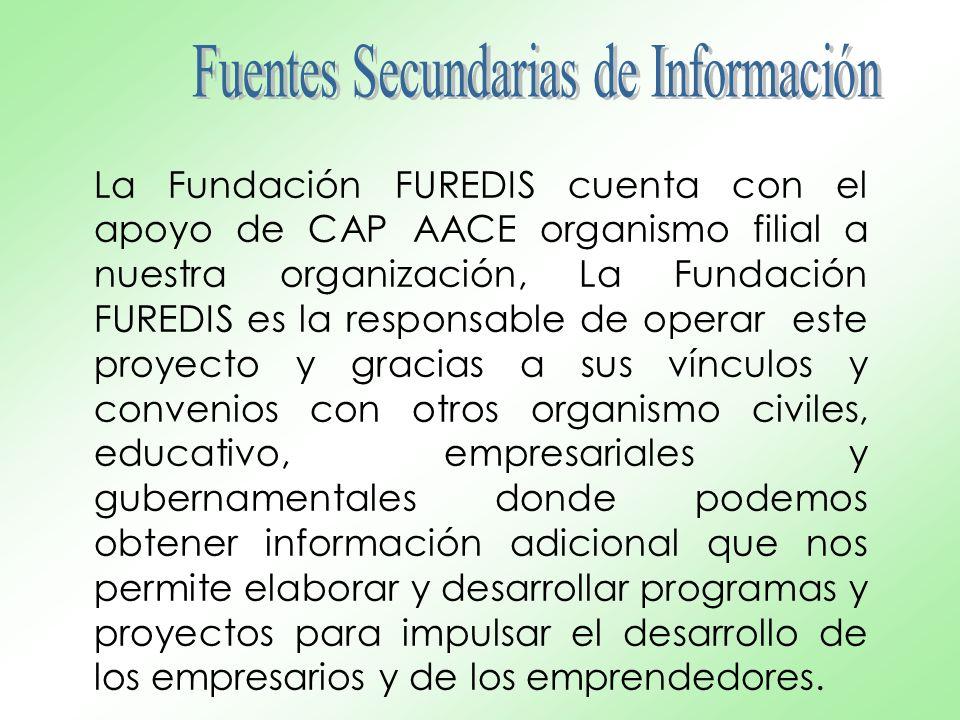 La Fundación FUREDIS cuenta con el apoyo de CAP AACE organismo filial a nuestra organización, La Fundación FUREDIS es la responsable de operar este pr