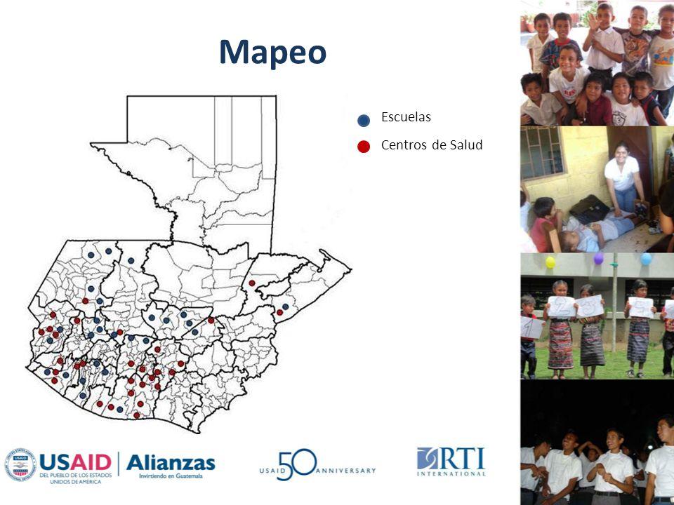 Mapeo Escuelas Centros de Salud