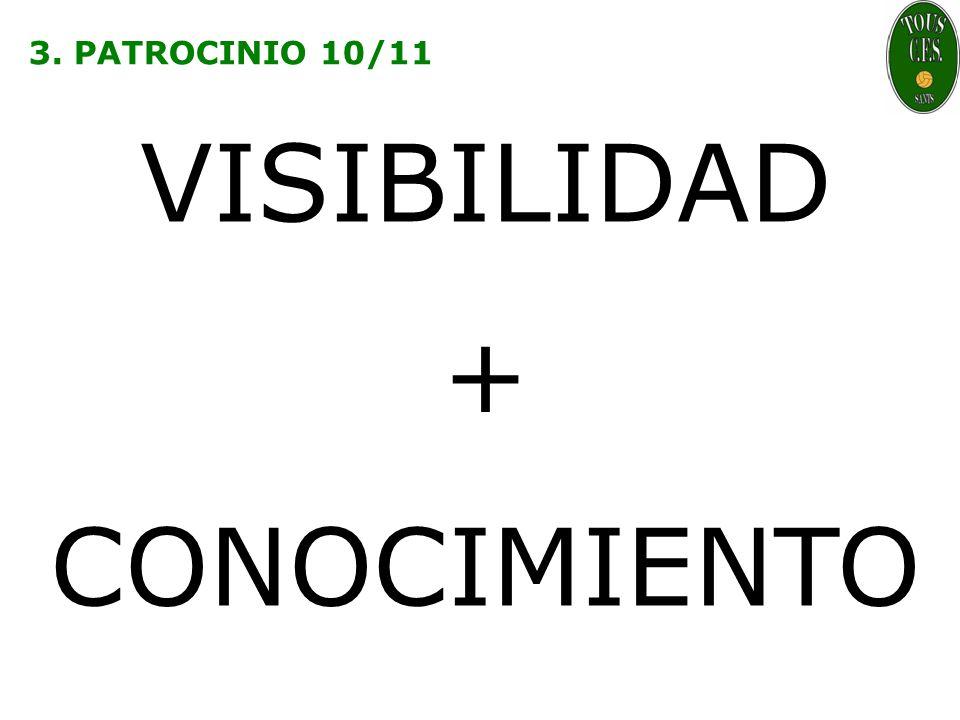 3. PATROCINIO 10/11 VISIBILIDAD + CONOCIMIENTO
