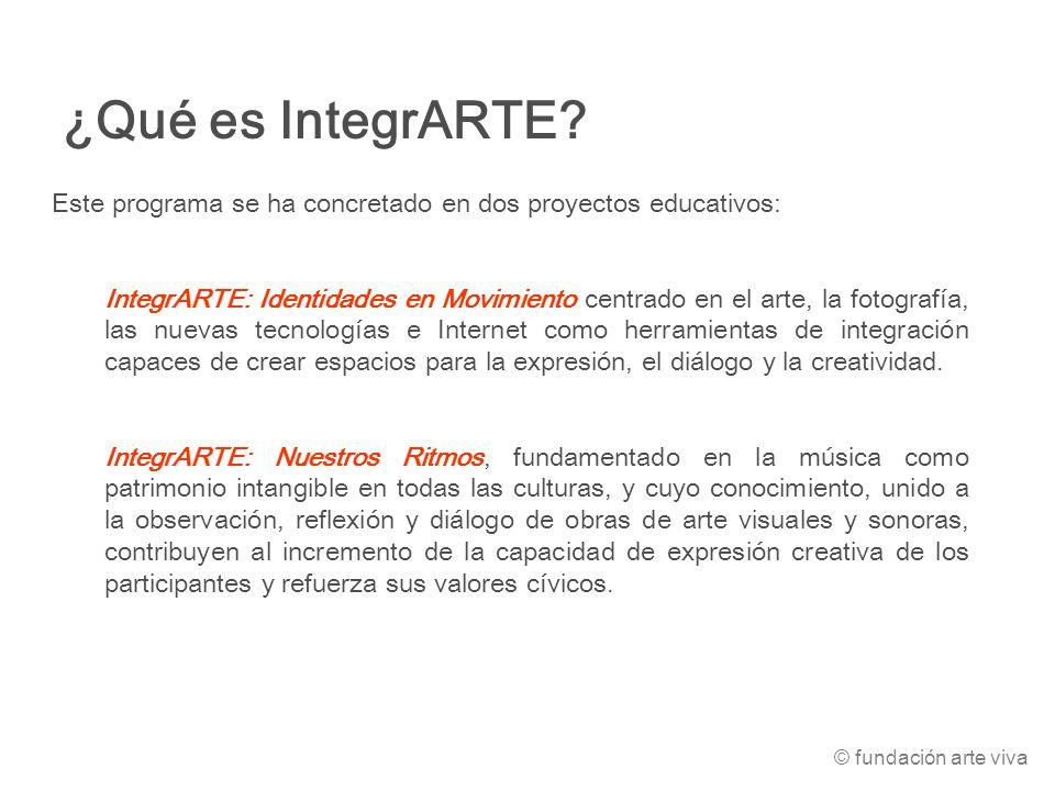 Este programa se ha concretado en dos proyectos educativos: IntegrARTE: Identidades en Movimiento centrado en el arte, la fotografía, las nuevas tecno