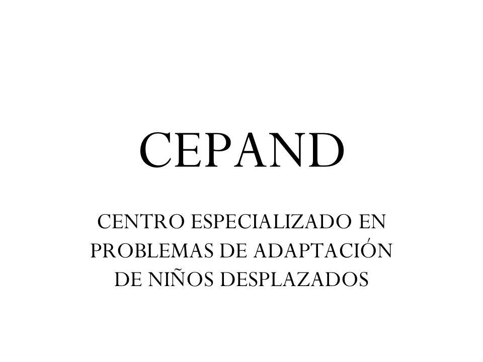 CEPAND CENTRO ESPECIALIZADO EN PROBLEMAS DE ADAPTACIÓN DE NIÑOS DESPLAZADOS