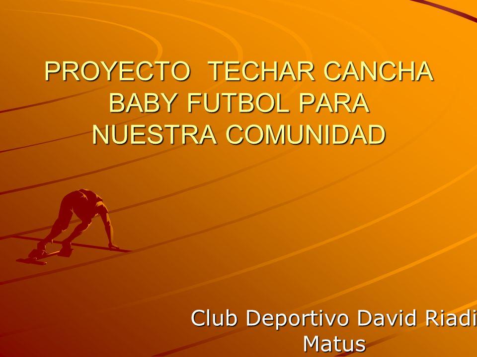 PROYECTO TECHAR CANCHA BABY FUTBOL PARA NUESTRA COMUNIDAD Club Deportivo David Riadi Matus