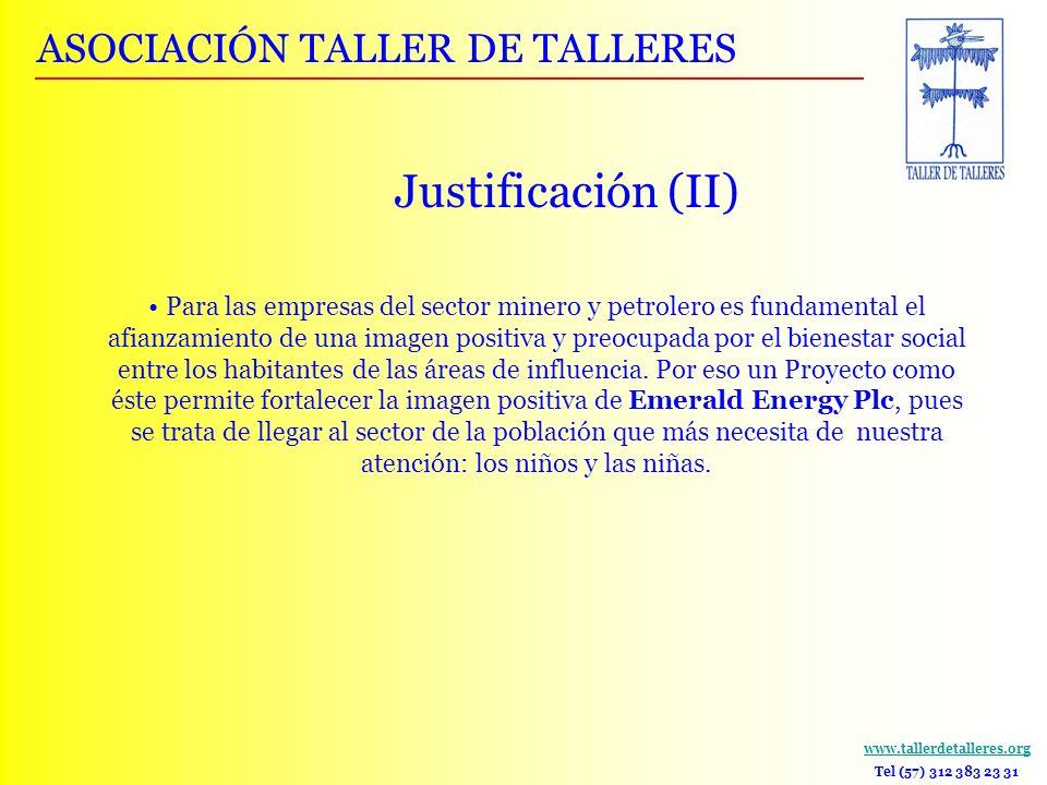 www.tallerdetalleres.org Tel (57) 312 383 23 31 Para las empresas del sector minero y petrolero es fundamental el afianzamiento de una imagen positiva