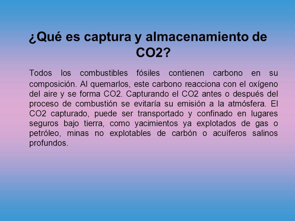 ¿Qué es captura y almacenamiento de CO2.